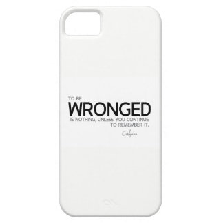 QUOTES: Confucius: To be wronged is nothing iPhone 5 Case