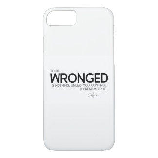 QUOTES: Confucius: To be wronged is nothing iPhone 8/7 Case
