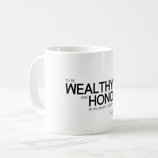 QUOTES: Confucius: Wealthy and honored Coffee Mug