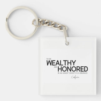 QUOTES: Confucius: Wealthy and honored Key Ring
