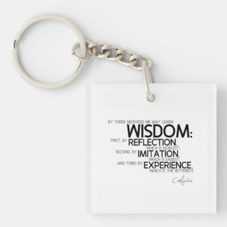 QUOTES: Confucius: Wisdom: reflection, imitation Key Ring