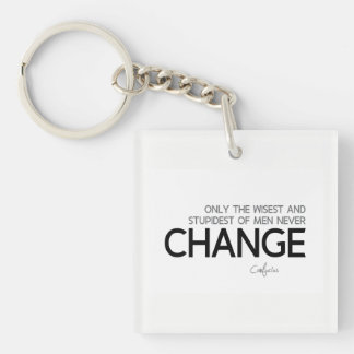QUOTES: Confucius: Wisest and stupidest, Change Key Ring