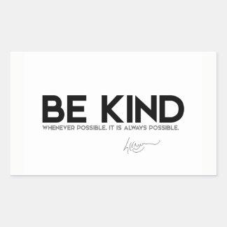 QUOTES: Dalai Lama - Be Kind Rectangular Sticker