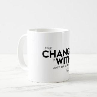 QUOTES: Dalai Lama - Change is within Coffee Mug