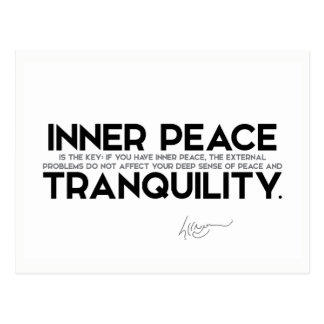 QUOTES: Dalai Lama - Inner peace is the key Postcard
