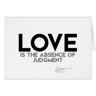 QUOTES: Dalai Lama - Love, judgment Card