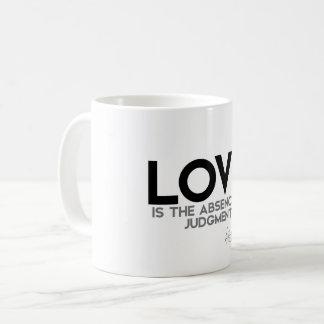 QUOTES: Dalai Lama - Love, judgment Coffee Mug