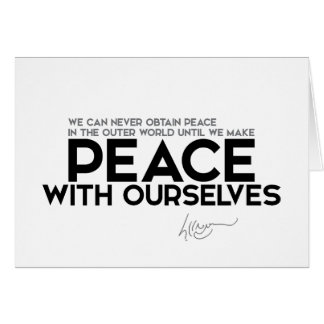 QUOTES: Dalai Lama - Peace with ourselves Card