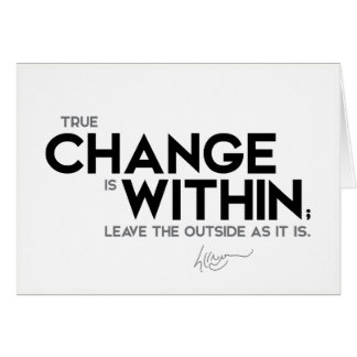 QUOTES: Dalai Lama - True change is within Card
