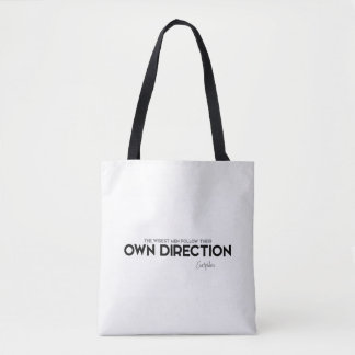 QUOTES: Euripides: Follow own direction Tote Bag