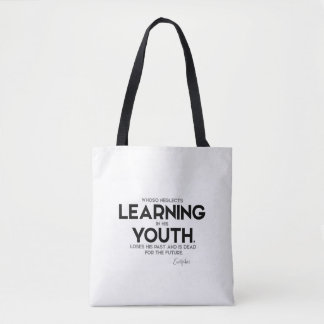 QUOTES: Euripides: Learning in youth Tote Bag