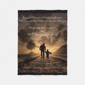 QUOTES FLEECE BLANKET