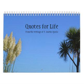 Quotes for Life Calendar Option B