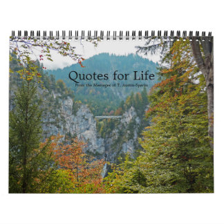 Quotes for Life Calendar Option F