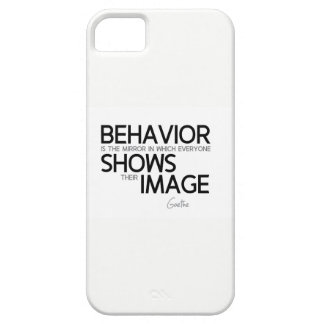 QUOTES: Goethe: Behavior, image Case For The iPhone 5