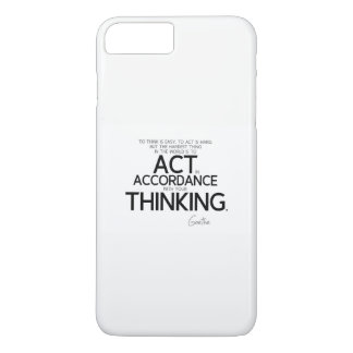 QUOTES: Goethe: To act is hard iPhone 8 Plus/7 Plus Case