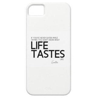 QUOTES: Goethe: What life tastes like iPhone 5 Case
