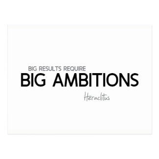 QUOTES: Heraclitus: Big ambitions Postcard