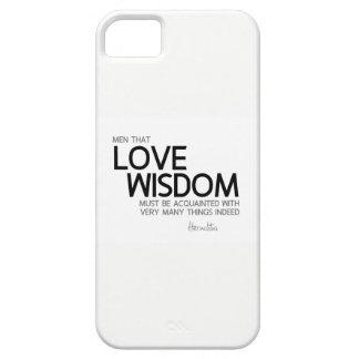 QUOTES: Heraclitus: Love wisdom iPhone 5 Covers