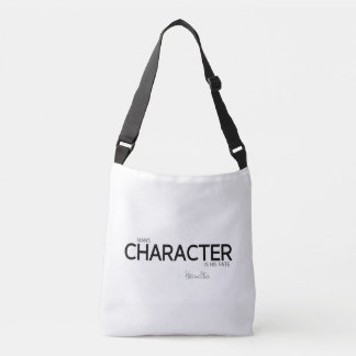 QUOTES: Heraclitus: Man's character Crossbody Bag