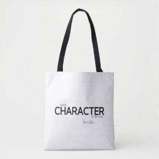 QUOTES: Heraclitus: Man's character Tote Bag