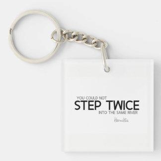 QUOTES: Heraclitus: Step twice, same river Key Ring