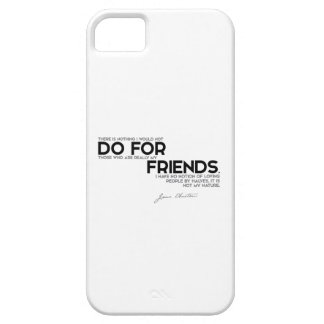 QUOTES: Jane Austen - Do for friends iPhone 5 Covers