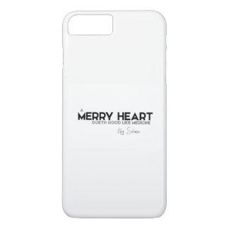 QUOTES: King Solomon: A merry heart iPhone 8 Plus/7 Plus Case