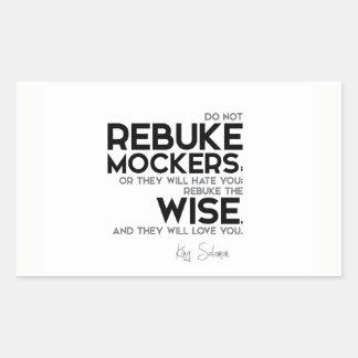 QUOTES: King Solomon: Rebuke the wise Rectangular Sticker