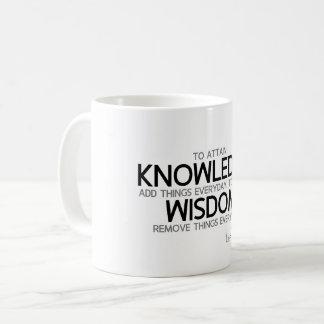 QUOTES: Lao Tzu: Attain knowledge, wisdom Coffee Mug