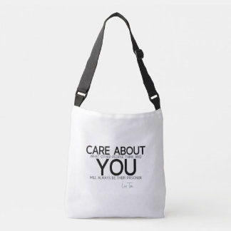 QUOTES: Lao Tzu: Care about you Crossbody Bag
