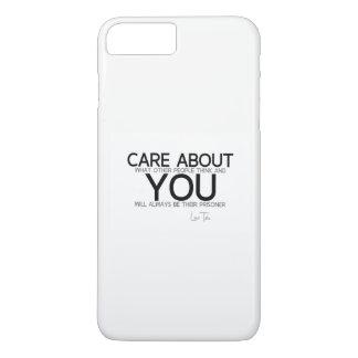 QUOTES: Lao Tzu: Care about you iPhone 8 Plus/7 Plus Case