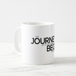 QUOTES: Lao Tzu: Journey begins Coffee Mug