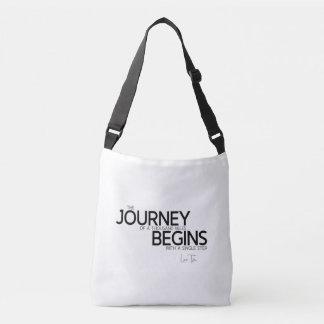 QUOTES: Lao Tzu: Journey thousand miles Crossbody Bag
