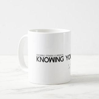 QUOTES: Lao Tzu: Knowing yourself Coffee Mug