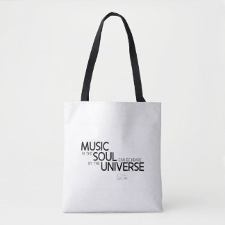QUOTES: Lao Tzu: Music is soul Tote Bag