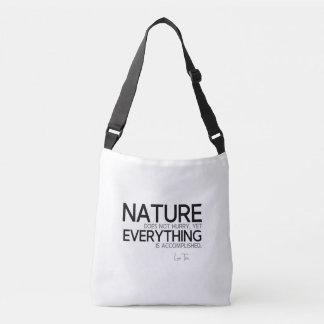 QUOTES: Lao Tzu: Nature, accomplished Crossbody Bag