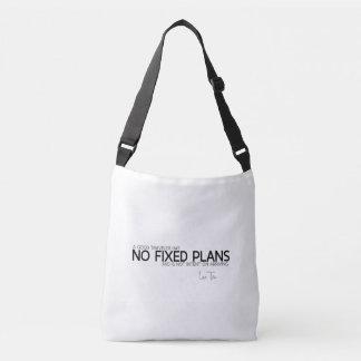 QUOTES: Lao Tzu: No fixed plans Crossbody Bag