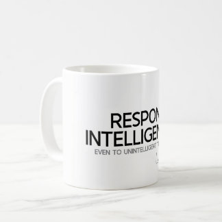 QUOTES: Lao Tzu: Respond intelligence Coffee Mug