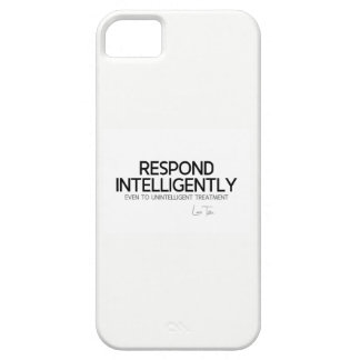 QUOTES: Lao Tzu: Respond intelligence iPhone 5 Covers