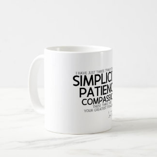QUOTES: Lao Tzu: Simplicity, Patience, Compassion Coffee Mug
