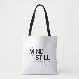 QUOTES: Lao Tzu: Still mind Tote Bag