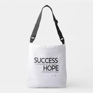 QUOTES: Lao Tzu: Success, hope Crossbody Bag