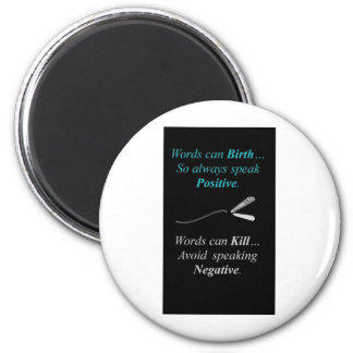 """""""QUOTES~N~ MOTION"""" GEAR WEAR 25 by CARA G. RHODES 6 Cm Round Magnet"""