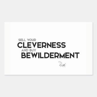 QUOTES: Rumi: Buy bewilderment Rectangular Sticker