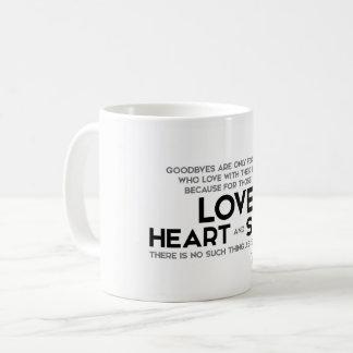 QUOTES: Rumi: Goodbyes, separation Coffee Mug