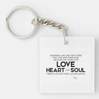 QUOTES: Rumi: Goodbyes, separation Key Ring