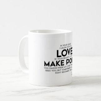 QUOTES: Rumi: Learn how to love Coffee Mug