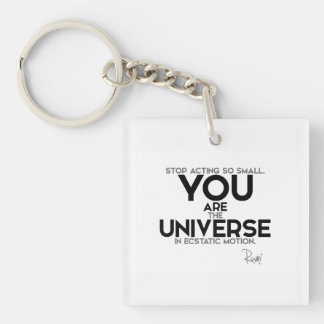 QUOTES: Rumi: You are the universe Key Ring