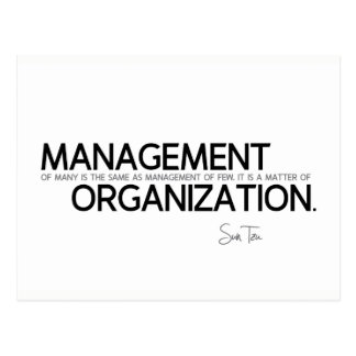 QUOTES: Sun Tzu: Management of many Postcard
